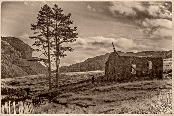 Rhosydd Chapel in Cwmorthin Slate Quarry